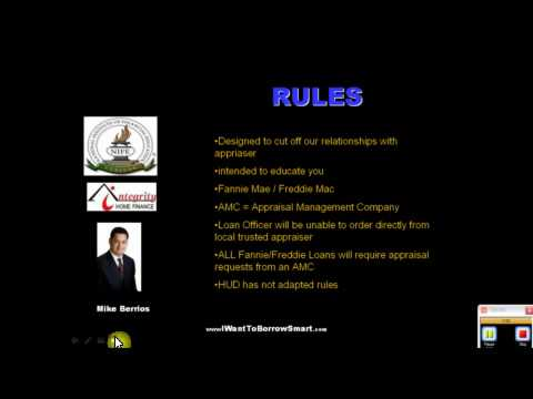 Appraisal Laws Changing May 1, 2009!