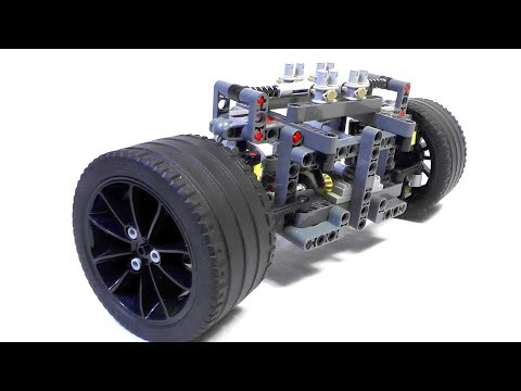 FRONT AXLE with Disk Brakes- LEGO Technic (MOC)