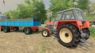 ☻Trailer at the front of the Tractor, quick harvest and machine washing | small plow & small Ursus