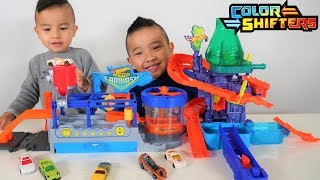 Mega Car Wash Hot Wheels Color Shifters Color Splash Science Lab Playset  CKN Toys
