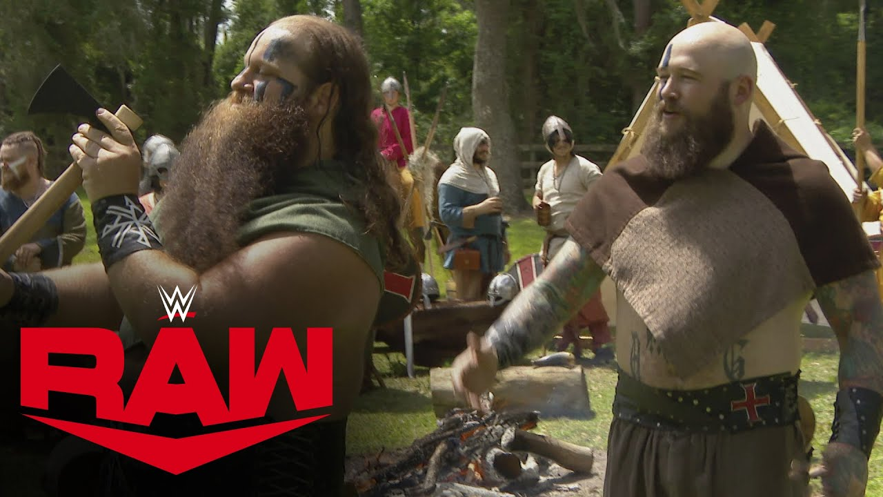 The Street Profits vs. The Viking Raiders – Axe Throwing Competition: Raw, May 18, 2020