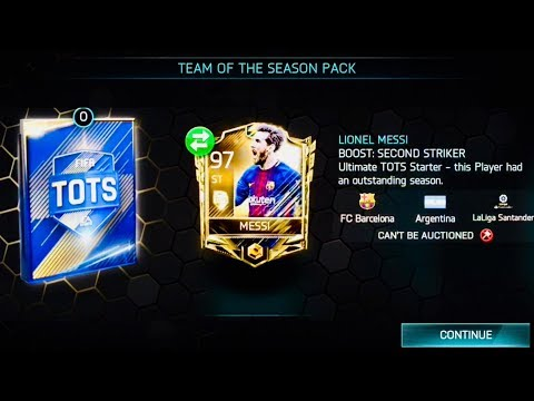I GOT 97 OVR UTOTS MESSI - GREATEST UTOTS PACK OPENING IN FIFA MOBILE  - Gameplay Review
