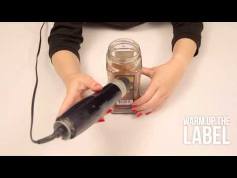 How to remove label from the jar I DIY