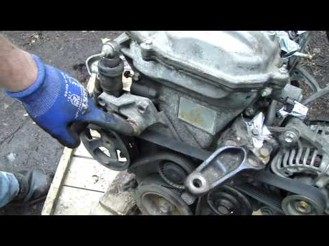 How to check and replace drive belt Toyota Corolla VVT-i engine. Serpentine belt.