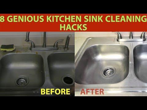 8 Genius Kitchen Sink Cleaning Hacks|How to clean kitchen sink with baking soda & vinegar in Hindi