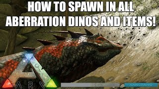 Ark Aberration - Spawn All New Aberration Creatures and Saddles