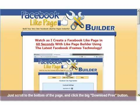 How to Build your own Facebook Like Page, Fan Page, Business or Brand Page