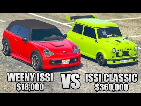 GTA 5 Online - WEENY ISSI vs ISSI CLASSIC ($18,000 vs $360,000)