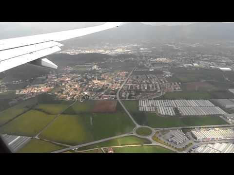 Landing at Milan Bergamo airport