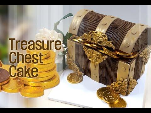 ::sugarcraft::treasure chest cake보물상자케이크