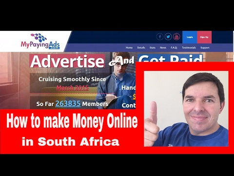 How to make money online in South Africa by Colin Brazendale