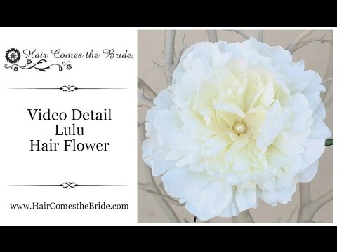 Silk Flower Bridal Hair Clip ~ Bridal Hair Accessories and Jewelry by Hair Comes the Bride