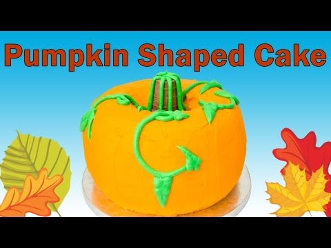 Pumpkin Shaped Cake for Thanksgiving from Cookies Cupcakes and Cardio