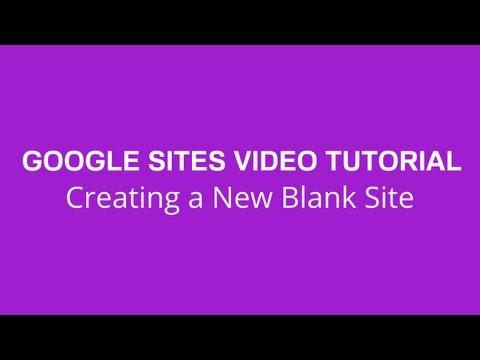 Create a New Blank Google Site