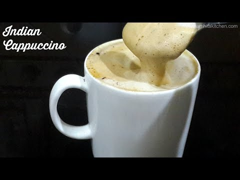 Creamiest Hand Beaten Coffee Ever! Indian Cappuccino ☕️  Creamy & Frothy Indian Style Coffee Recipe