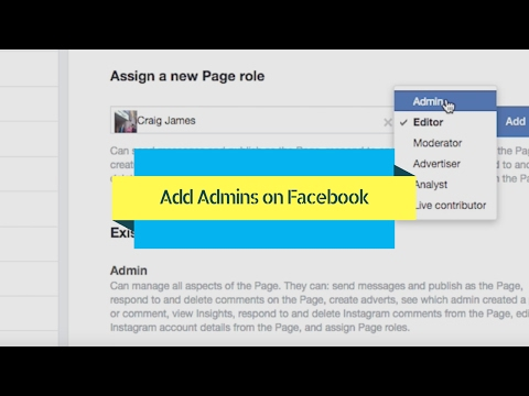 How To Add An Admin To Facebook Page (2017)