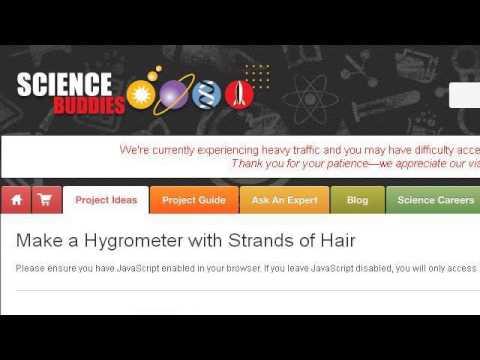 Homemade Hair Hygrometer