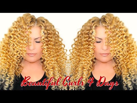 How To Make Perfect BOUNCY Wand Curls / Long Lasting Beyoncé Curly Hair