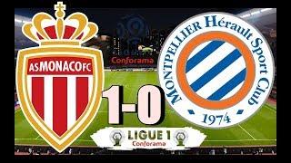 AS Monaco vs Montpellier HSC (1-0) Simulator Gameplay Pes Oynadim Türkçe 14/02/2020 HD