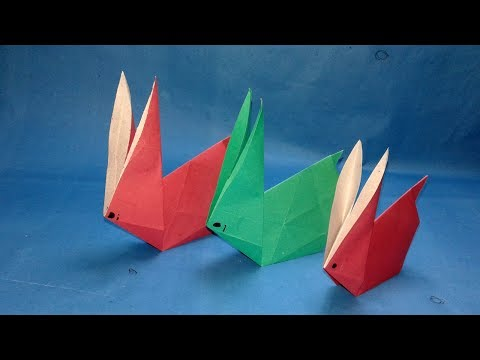 Origami animals : How to make Origami Rabbit ? Easy origami bunny making Instructions.