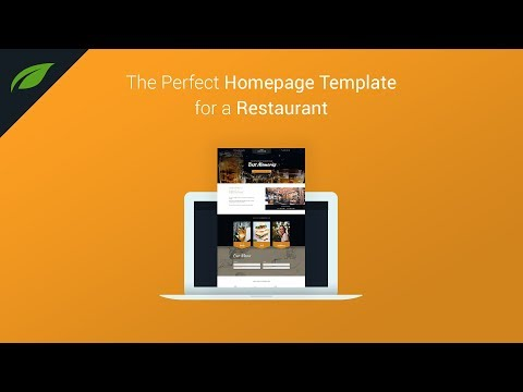 The Best Website Template for a Restaurant Business