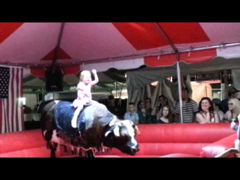 Heidi riding mechanical bull