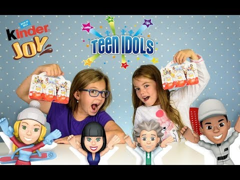 UNBOXING KINDER JOY SURPRISE EGG WITH TOY TEEN IDOLS SERIES