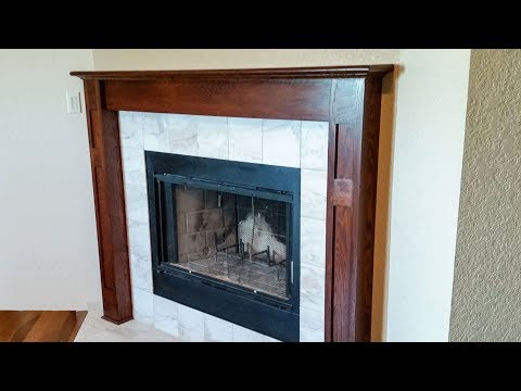 Building A Fireplace Surround and Mantel