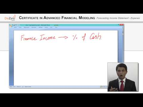Forecasting Income Statement   Expenses