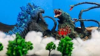 Legendary Godzilla vs biollante an epic Battle stop motion [HD]