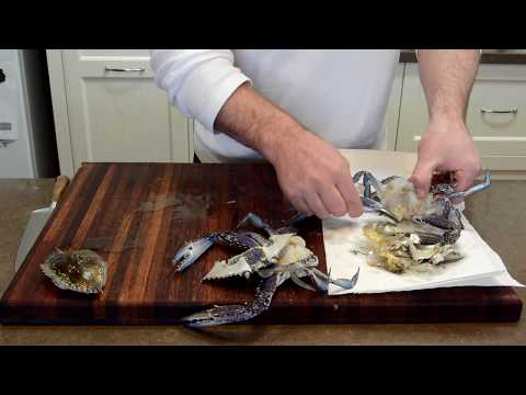 Steam & Combi Oven Cooking - How to Clean Blue Swimmer Crabs