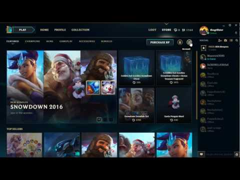 How to Refund/Sell a Champion on League of Legends NEW CLIENT 2017