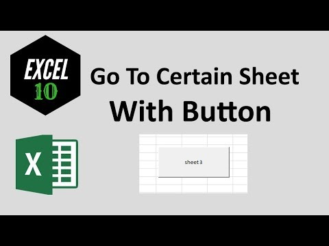 How to create button to go to certain sheet in excel