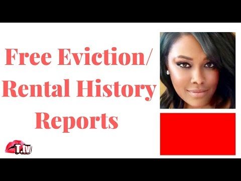 GET YOUR FREE EVICTION REPORT!!  KNOW WHAT'S BEING REPORTED ABOUT YOUR RENTAL CREDIBILITY!!!