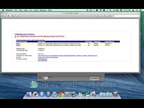 [PDF to XLSX Converter]: How to Convert PDF to Xlsx on Mac OS X?