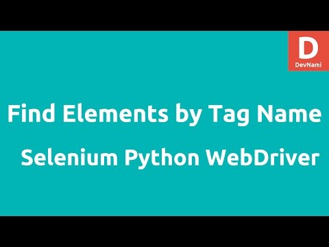 Python WebDriver find_element _by_tag_name