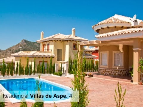 Detached Villas in Aspe - Alicante (Spain). Residencial Villas de Aspe.