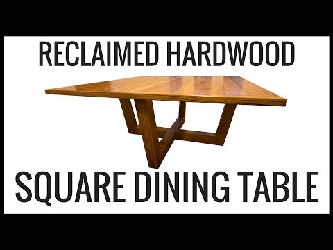 Reclaimed Hardwood Dining Table Square 8 Seat