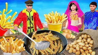 Download फ्रेंच फ्राइज French Fries Hindi Kahaniya   Bedtime Moral Stories   Panchtantra Fairy Tales 3D Video