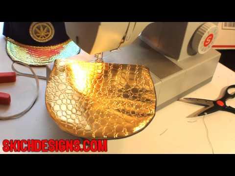 How to make a Strapback Hat : Pt.1- Brim (Best Video!) custom snapback hats tutorial