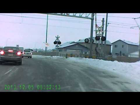 how to run a stop sign  bad driving calgary alberta