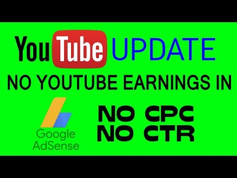 YOUTUBE UPDATE : Now AdSense Will Not Show YouTube Earnings | Cannot Watch CTR And CPC (HINDI)