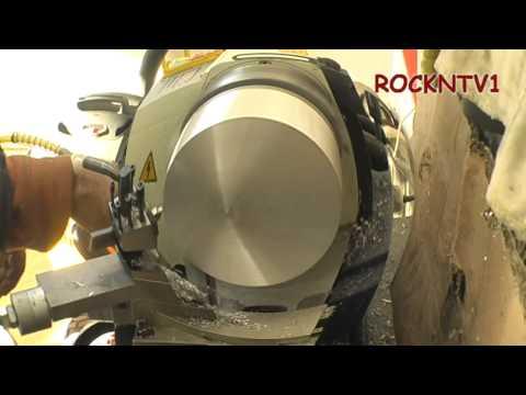 LATHE: O.D. turn aluminum backyard cast ingot