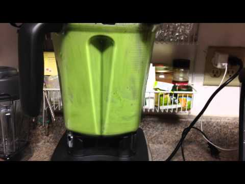 Wheat grass juice in a vitamix