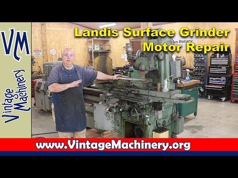 Landis Surface Grinder Motor Pulley Repair