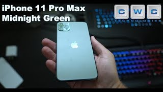 iPhone 11 Pro Max Midnight Green 256GB UNBOXING and  FIRST LOOK at Front Camera 4K!