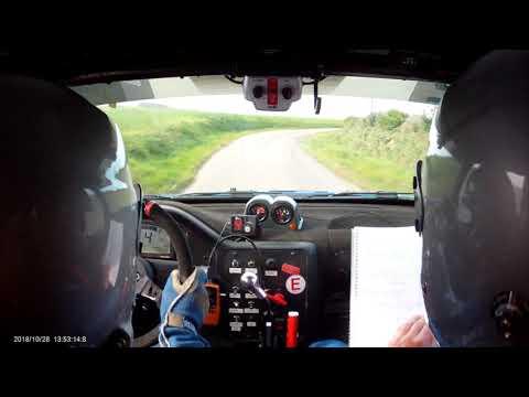 Rallye de la Porte Normande 2018 es5 - caméra embarquée Jeff Piau / Eric Laforge