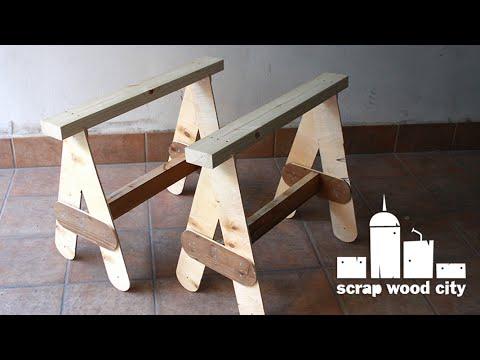 DIY sawhorses out of scrap wood