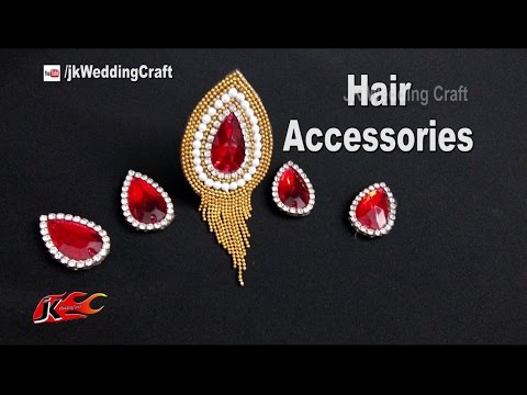 How to make Hair Accessories | Jewellery for wedding function | JK Wedding Craft 127