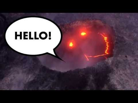 This erupting volcano will put a smile on your face